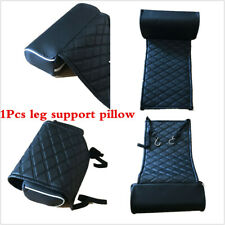 1Pcs Black Leather Car Seat Extended Cushion Foot Leg Knee Pad Support Pillow