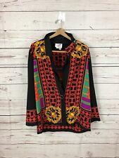 Vintage Caron Blazer Size 12 Collar Gianni Abstract Chicago Versace EUC VTG A++
