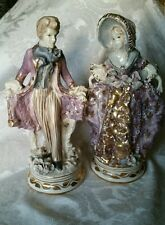 "Extremely RARE Cordey Figurine Pair 11"" Lavender OUTSTANDING CONDITION"