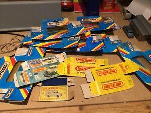 Vintage Bundle Of Lesney Matchbox Superfast Empty Boxes