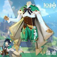 Genshin Impact Venti Full Set Uniform Halloween Cosplay Costume