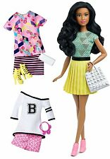 Barbie fashionista african-american doll avec 2 autres tenues