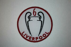 LIVERPOOL - LFC - CHAMPIONS  LEAGUE TIMES 6 TROPHY PATCH Iron on/sew on patch