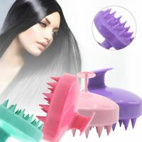 Silicone Shampoo Scalp Shower Body Washing Hair Massage Massager Brush Comb Tool
