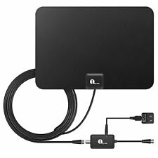 TV Antenna, 50 Mile Range Amplified HDTV w/ Detachable Amplifier Signal Booster