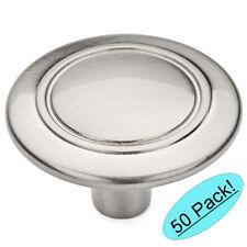 *50 Pack* Cosmas Cabinet Hardware Satin Nickel Round Cabinet Knobs #9501SN