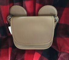 COACH DISNEY X MICKEY MOUSE EARS PATRICIA CROSSBODY BAG SADDLE NWT F59369