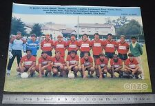 CLIPPING POSTER FOOTBALL 1986-1987 D2 CO LE PUY EN VELAY STADE LAFAYETTE
