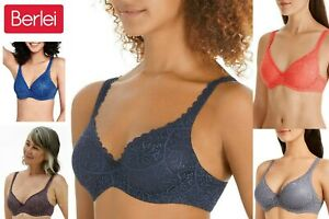 Berlei Barely There Lace Contour T-Shirt YYTP Bras Sizes 10 12 14 16 18 C D DD E
