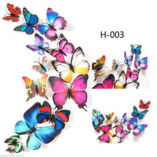 12pcs 3D Butterfly Sticker Art Design Decal Wall Stickers Home Decor,Mouticolor
