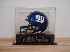 Troy Aikman Football Mini Helmet Display Case With A Dallas Cowboys Nameplate