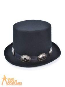 Adult Rocker Style Top Hat 1980s Slash Victorian Fancy Dress Costume Accessory