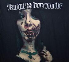 New Black Vampires Love You For What is inside of you Morbid T Shirt Men's Med