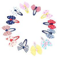 12pcs Pince instantanee de noeud papillon pour bebe Pince a cheveux Bandeau Q JU