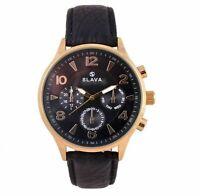 Analog Quartz Waterproof Mens Wrist Watch Slava SL10146 Leather Band