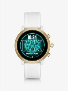 Michael Kors Access MKGO 43mm Case Gold-Tone with Silicone Strap