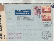 Switzerland Censored Airmail Cover