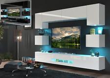 Moderne Wohnwand Schrankwand Hochglanz Wohnzimmer BESTA N1 inkl.LED