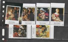 Gambia 2012 art paintings christmas Raphael Rembrandt etc  set+s/s  MNH