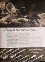 Lot of 3 Vintage 1946 Int'l Sterling Silverware Print Ads Ephemera Art Decor