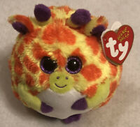 "Retired 2014 Ty Beanie Ballz  ~~ Toby  ~~ NWT ~  5"" Giraffe"
