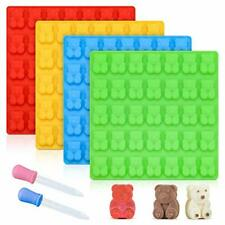 """Gummy Bear Molds Candy LARGE 1"""" CHOCOLATE Silicone 4 Pack LFGB Pinch…"""