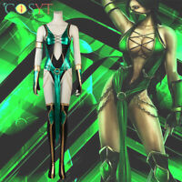 Mortal Kombat X Jade Cosplay Costumes Adult Sexy Halloween Outfits Full Set