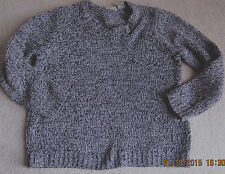 Women's WHITE STAG Gray Pullover V-Neck Sweater Size Large (L) Stretchy
