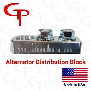 GP Audio 2 Spot Alternator Distribution Block 1/0 2/0 lug Battery Terminal