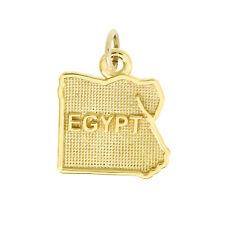 14Kt Yellow Gold Polished Travel Egypt Charm Pendant