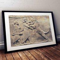 The Lion Hunt of Ashurbanipal Poster - Babylon/Sumerian/Assyrian/Anunnaki