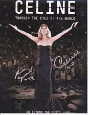 Celine Dion And Rene Angelil Rare Signed 8X10 Photo Reprint Plus Free Magazine