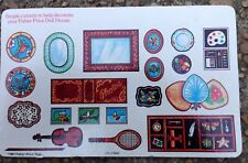 1981 FISHER PRICE TOYS FISHER-PRICE DOLL HOUSE DECORATIONS SHEET, UNCUT, VINTAGE