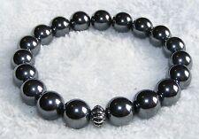 Hematite 10mm Bead Gemstone Crystal Power Bracelet A Grade (HM1)