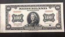 Netherlands Banknote Specimen. P69s