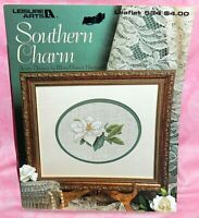 Leisure Art Southern Charm Cross Stitch Chart 7 Designs Flower Magnolia Gardenia