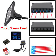 12V/24V 6 Gang LED Touch Screen Slim Switch Control Panel Car Boat Truck Marine