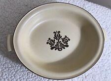 "Pfaltzgraff Village 10"" Oval Vegetable Serving Bowl w Handles Brown Cream"