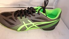 ASICS G502Y  Mens Hyper MD Track & Field Shoes Spikes Charcoal/Green/Onyx Sz 10