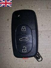 Audi A2 A3 A4 A6 A8 TT 3 Button Key Fob Case Shell With Uncut Blade