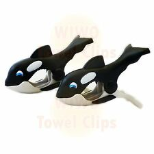 WIWO Pair of Towel Clips - Whale