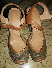 "CHIE MIHARA size 36  Strap 5.5"" HEELS 4""  SANDAL SHOES Platform open toe wedge"