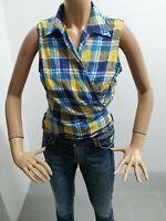 Camicia RALPH LAUREN Donna Taglia Size L Shirt Woman Chemise femme Cotone 7935