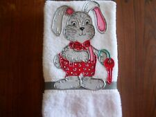 Valentine's Day Hand Towel Bathroom or Kitchen Key to My Heart Bunny New
