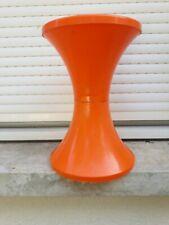♦ Ancien Tabouret Tam Tam Stamp Orange Made In France Réf 169 Vintage