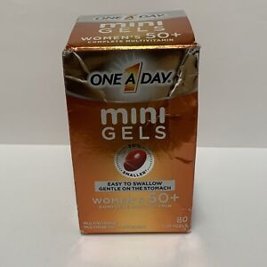 One A Day Mini Gels Women's 50+ Complete Multivitamin Dietary Supplement 80ct
