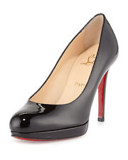100% AUTH NEW WOMEN LOUBOUTIN NEW SIMPLE 100 PATENT BLACK PUMPS/HEELS US 12