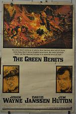 THE GREEN BERETS 40X60 ORIGINAL 1968 MOVIE POSTER JOHN WAYNE DAVID JANSSEN