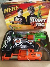 NERF Dart Tag FURYFIRE Complete 2-Player Set PUMP ACTION BLASTER Fury Fire RARE