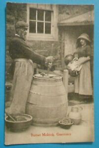 TOZERS Postcard POSTED 1934 BUTTER MAKING GUERNSEY